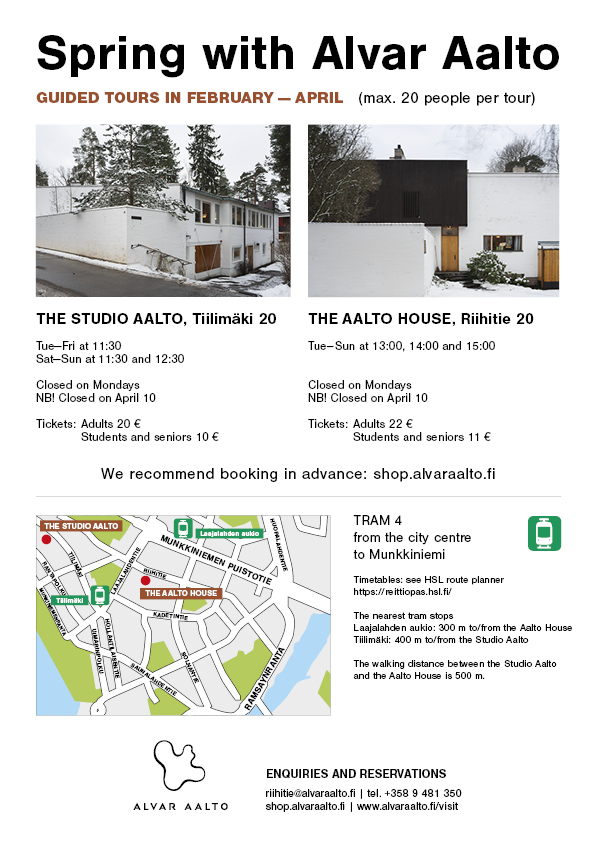 Download map in English of Alvar Aalto Foundation sites in Helsinki