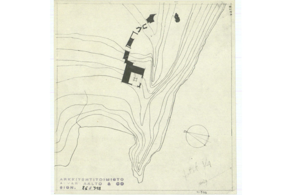 1 experimental house site plan - Alvar Aalto House Plans