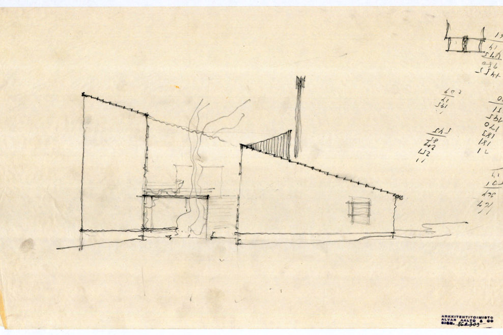 experimental house site plan drawing alvar aalto museum 2 - Alvar Aalto House Plans